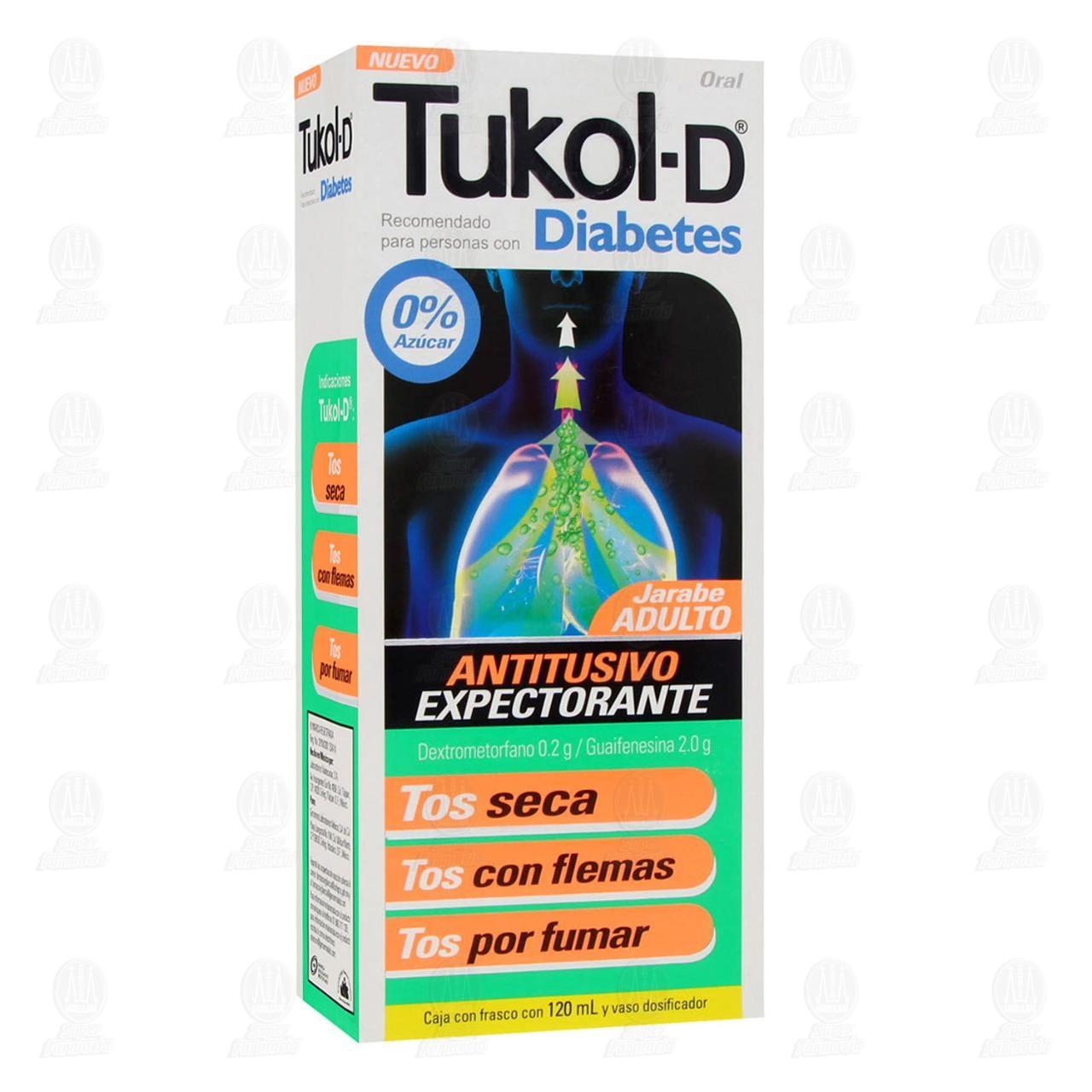 Comprar Tukol-D Jarabe Adulto Diabetes 120ml en Farmacias Guadalajara