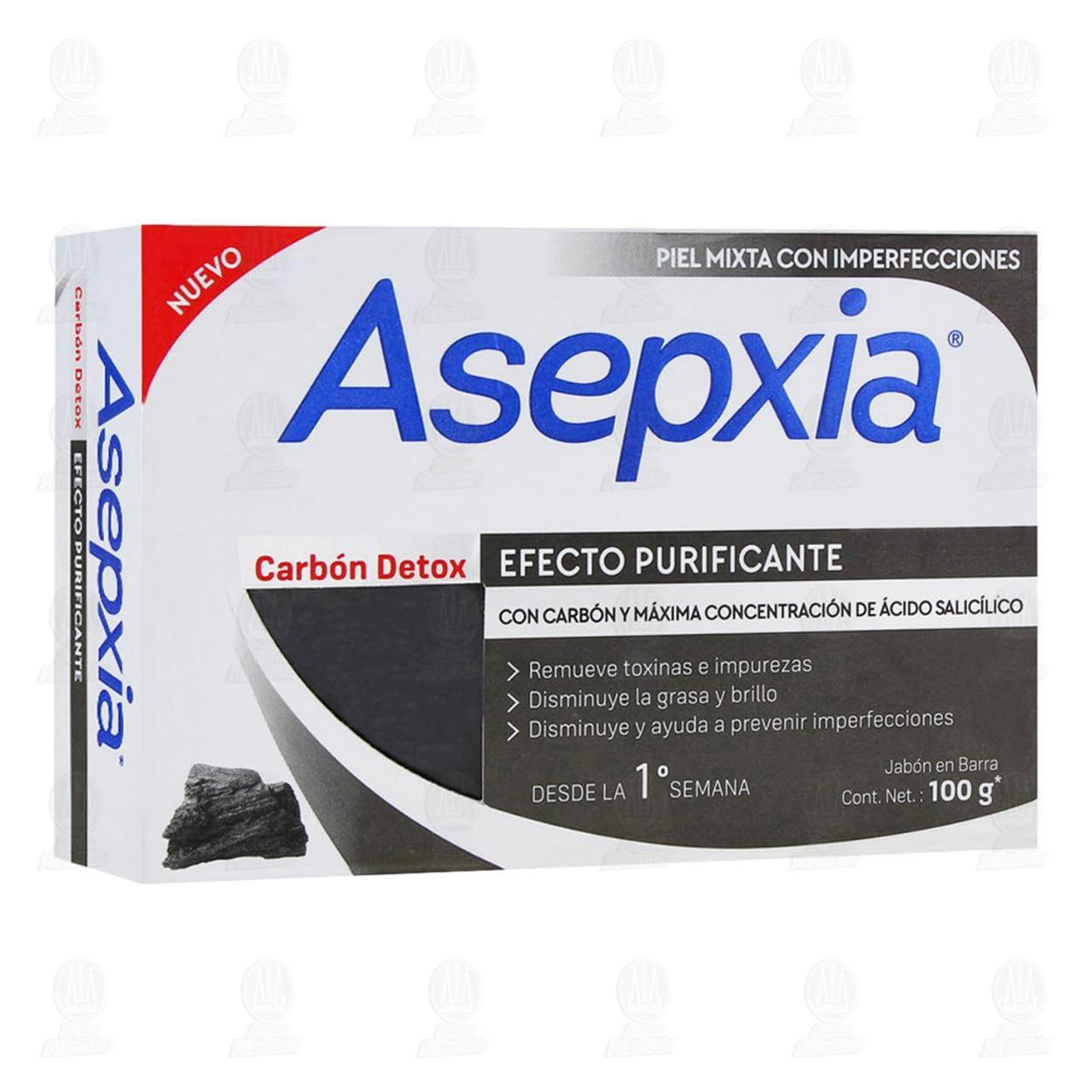 Comprar Jabón Asepxia Carbón Detox en Barra, 100 gr. en Farmacias Guadalajara