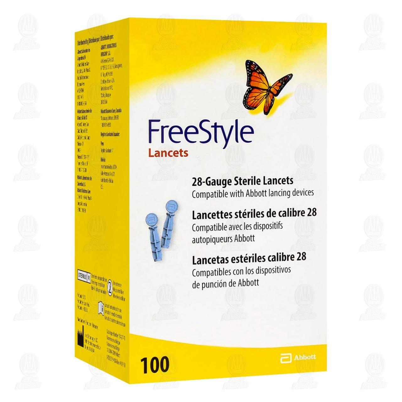Comprar Freestyle 100 Lancetas en Farmacias Guadalajara
