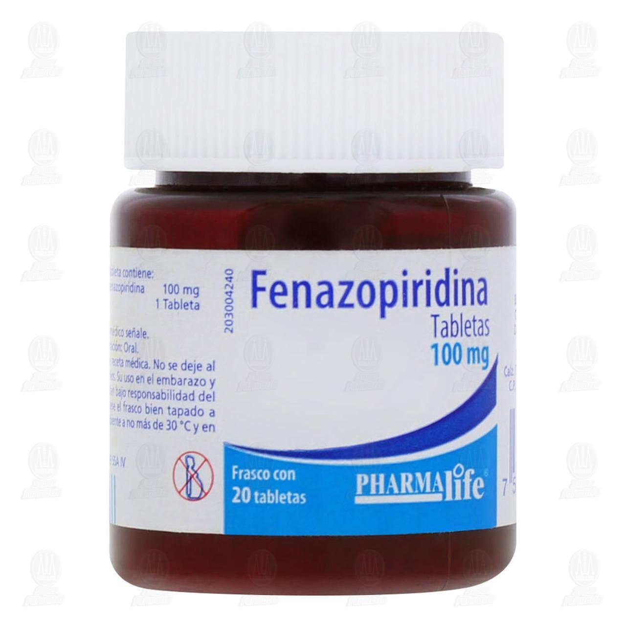 Comprar Fenazopiridina 100mg 20 Tabletas en Farmacias Guadalajara
