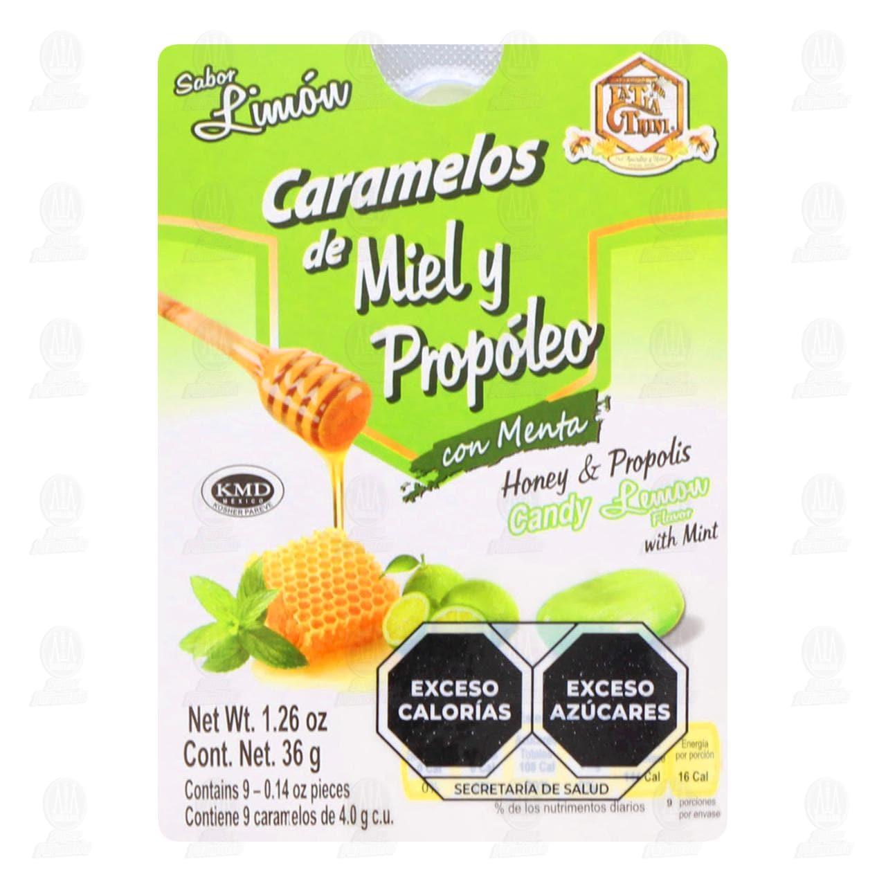 Comprar Tía Trini Caramelo Sabor Miel Propóleo y Limón 9pzas en Farmacias Guadalajara