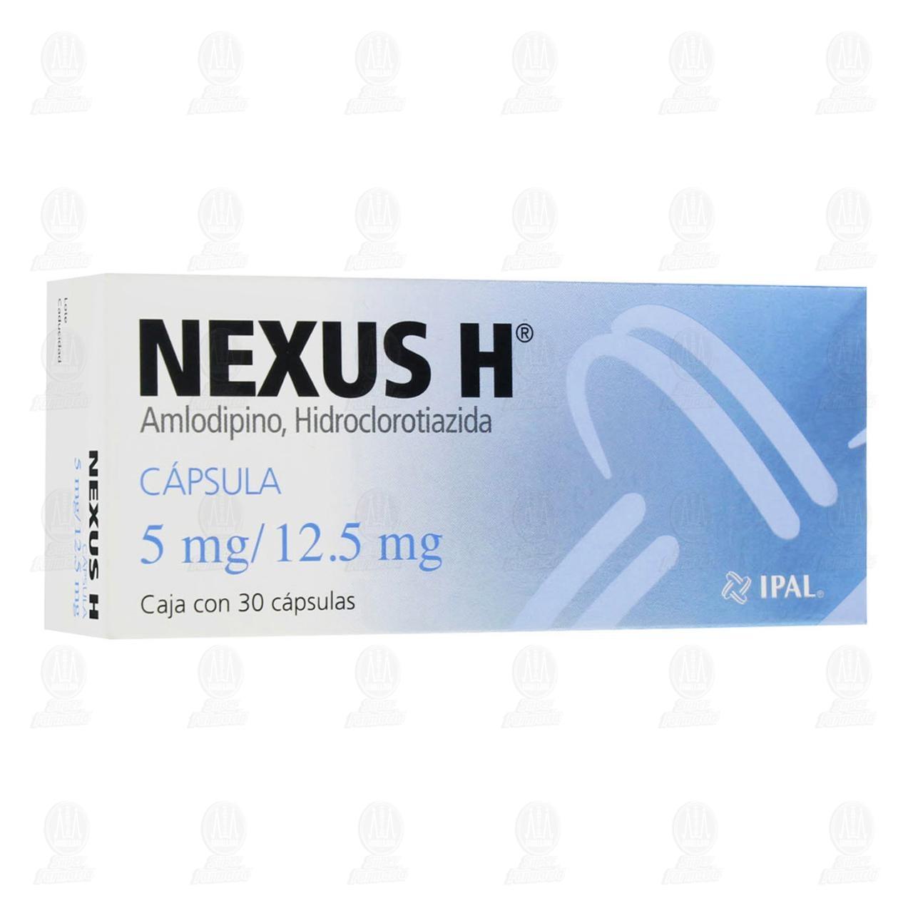 Comprar Nexus-H 5mg/12.5mg 30 Cápsulas en Farmacias Guadalajara