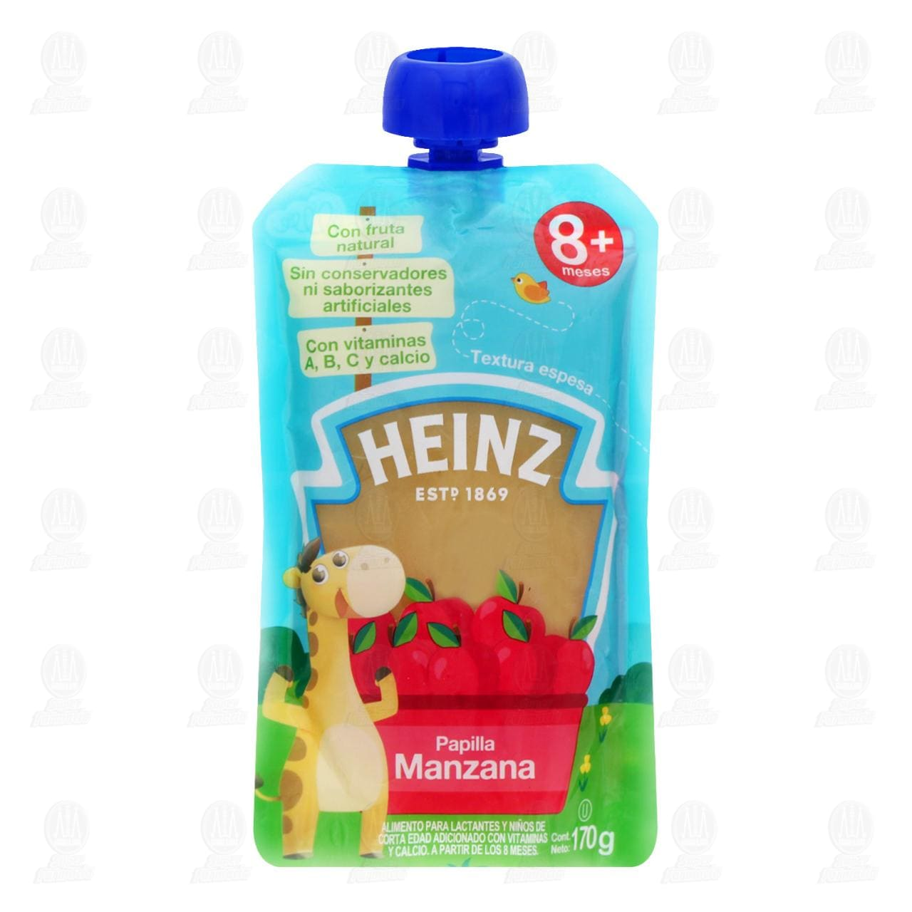Papilla Heinz de Manzana, a Partir de los 9 Meses, 170 gr.