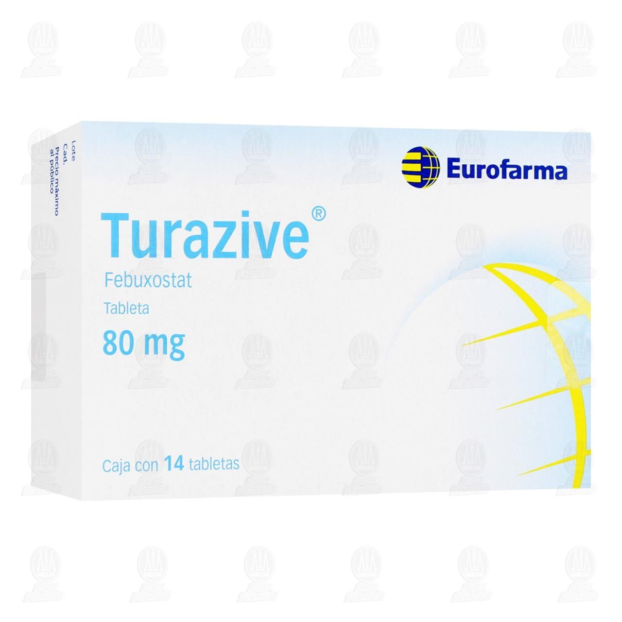 Turazive 80 mg 14 Tabletas
