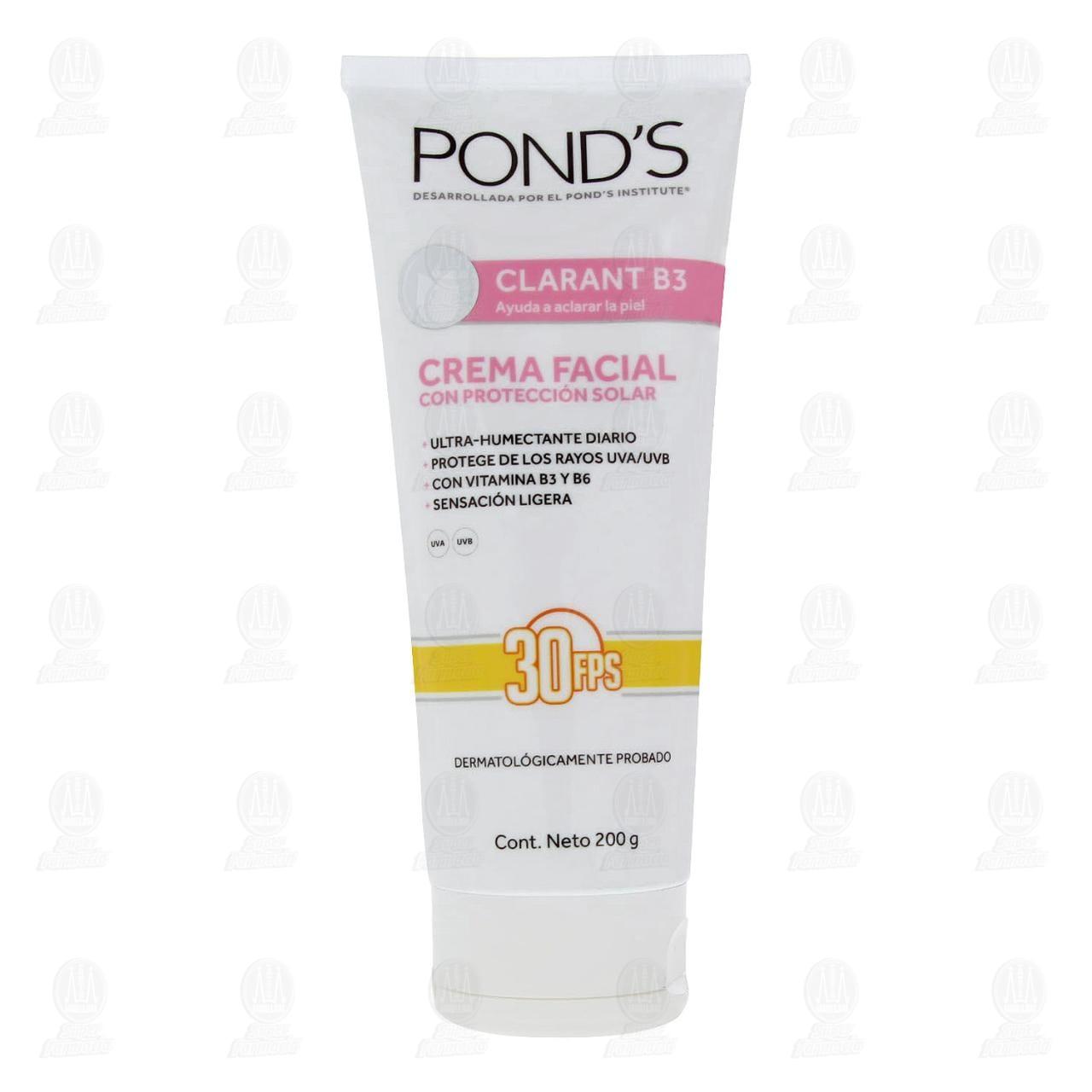 Comprar Crema Facial Pond's Clarant B3 con Protección Solar, 200 gr. en Farmacias Guadalajara