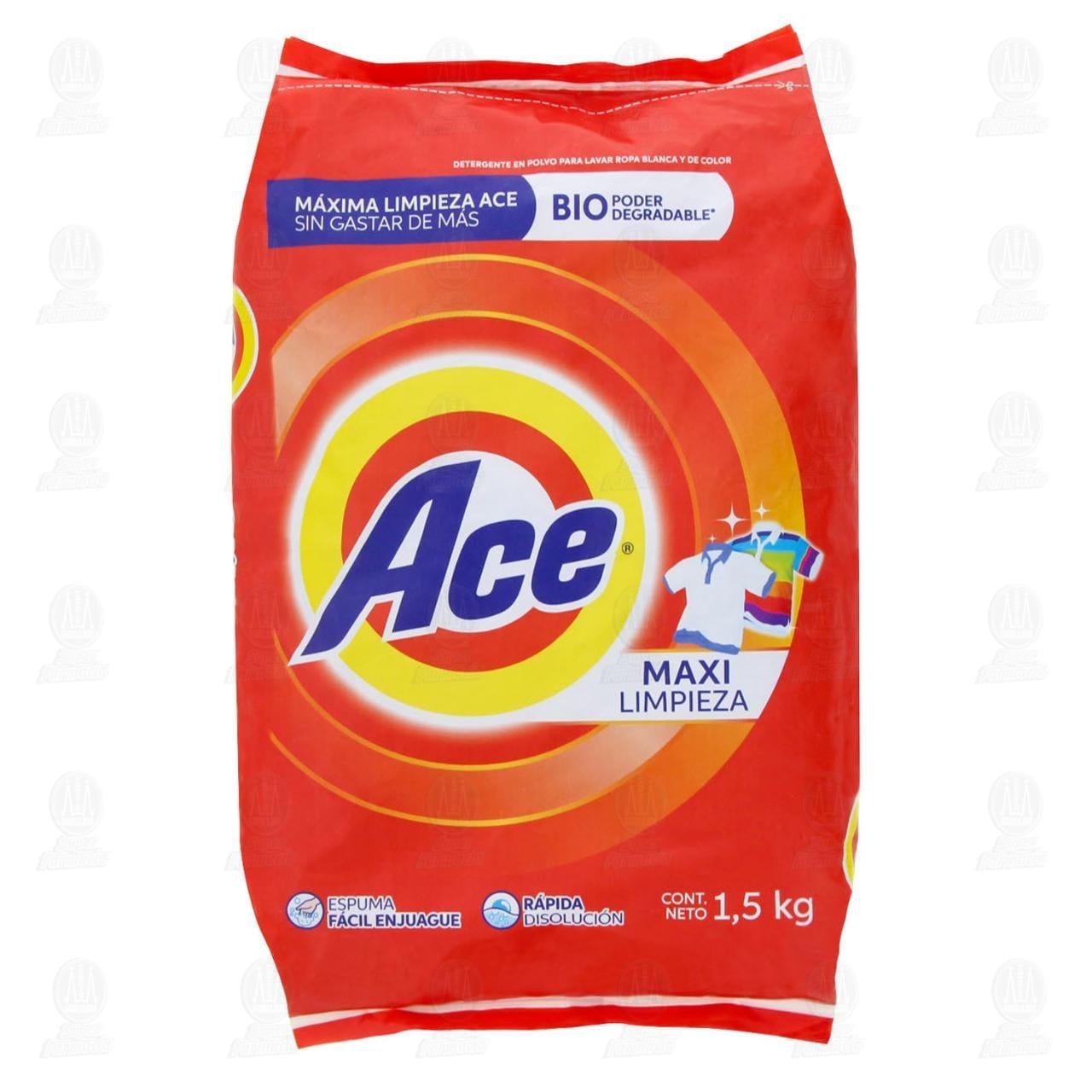Detergente en polvo Ace Maxi Limpieza 1,5 kg.
