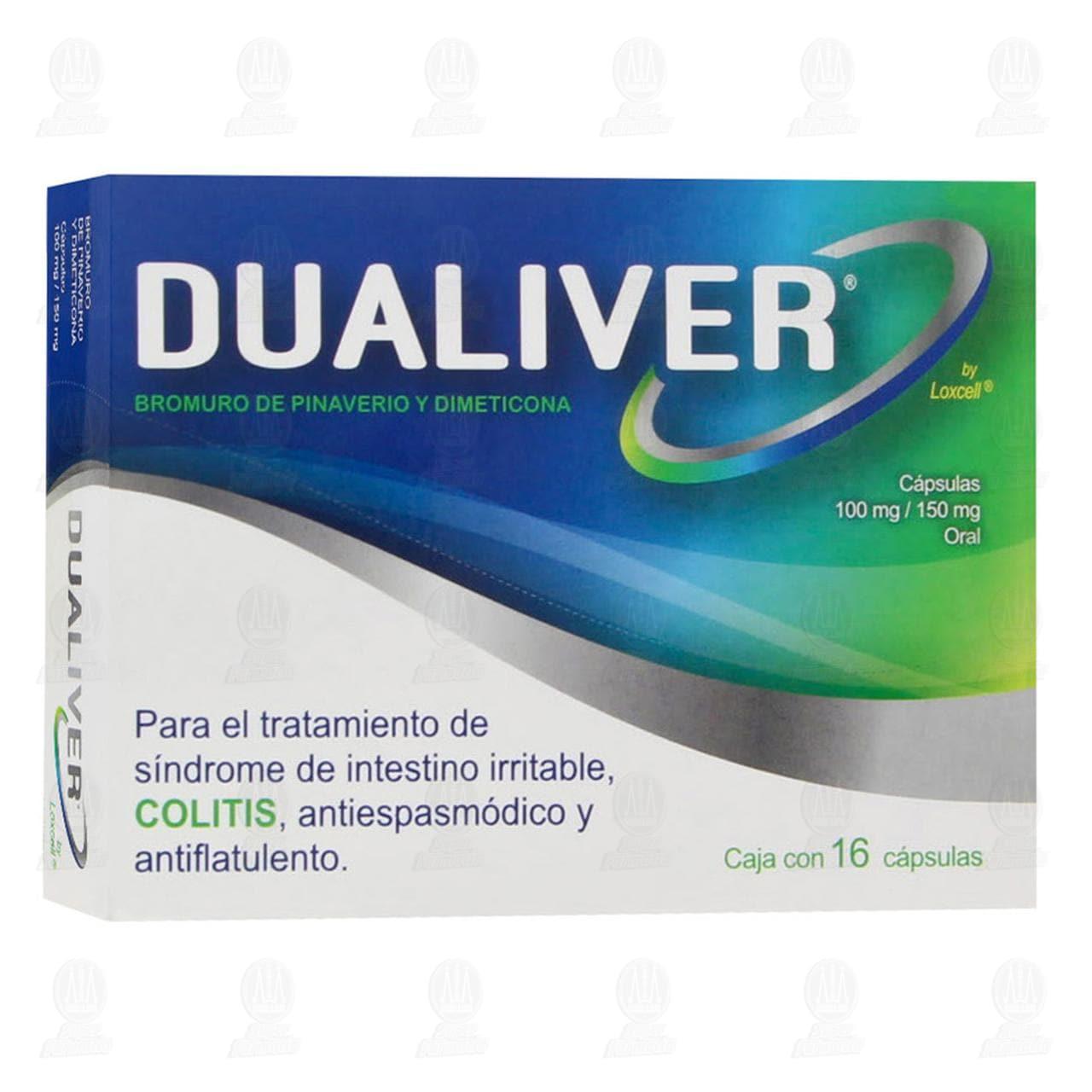 Comprar Dualiver 100mg/150mg 16 Cápsulas en Farmacias Guadalajara