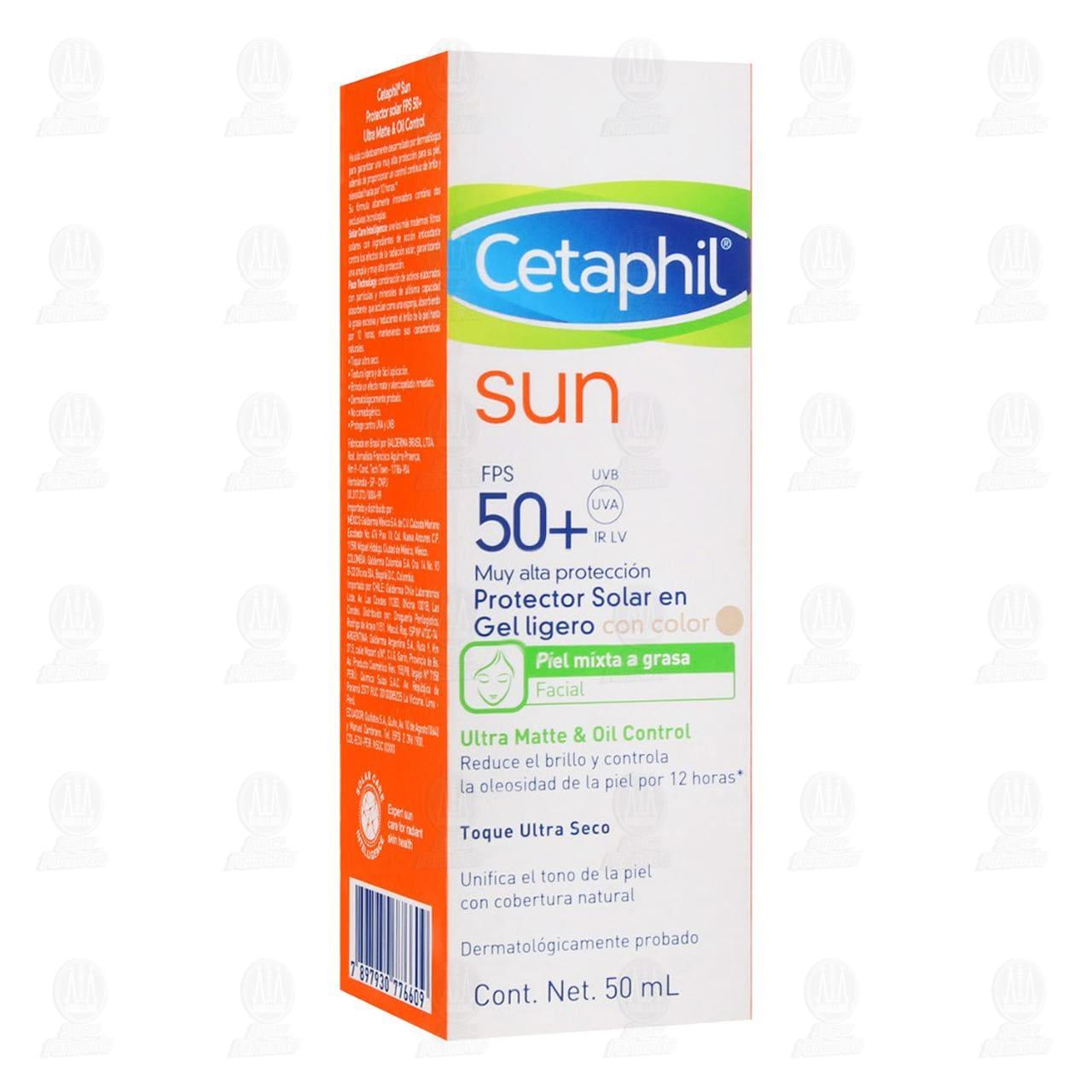 Comprar Cetaphil Sun FPS 50+ Gel Ligero Oil Control con Color, 50 ml. en Farmacias Guadalajara