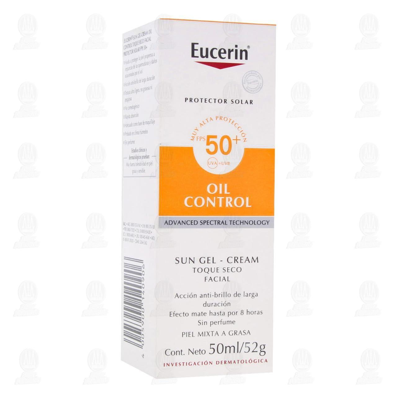 Comprar Eucerin Protector Solar Facial Toque Seco Oil Control, 50ml. en Farmacias Guadalajara