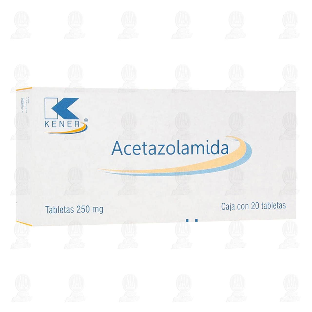 Comprar Acetazolamida 250 mg 20 Tabletas Kener. en Farmacias Guadalajara