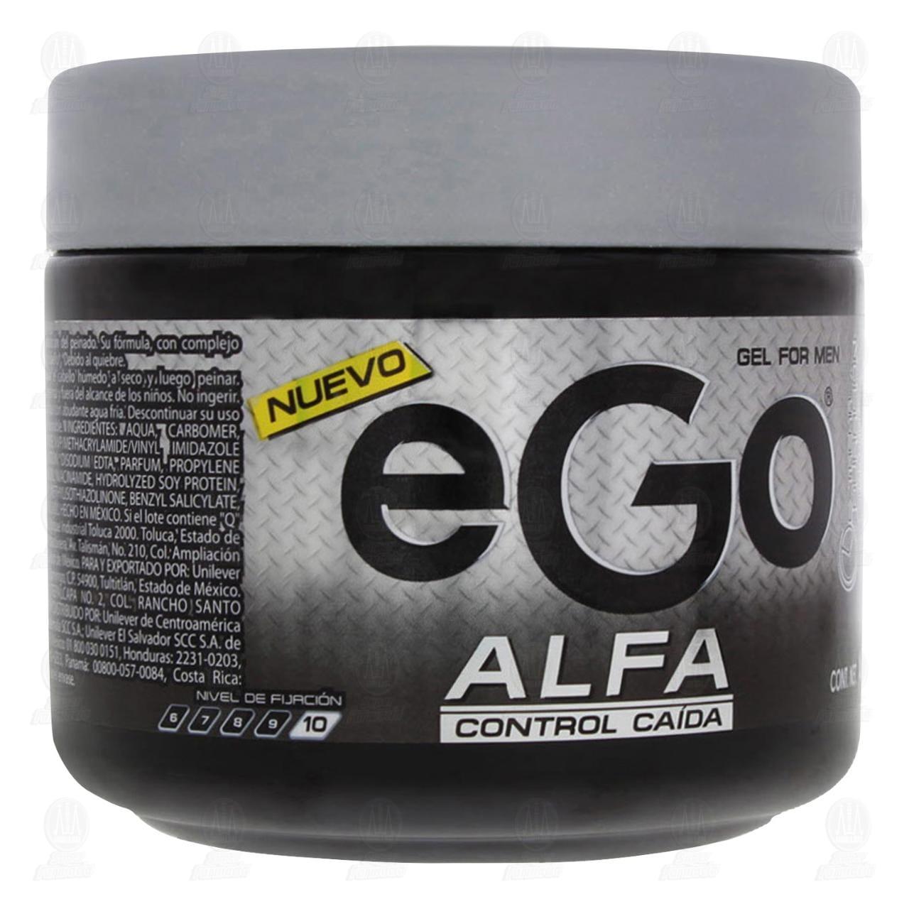 Gel para Cabello Ego Alfa Control Caída para Hombre, 450 ml.