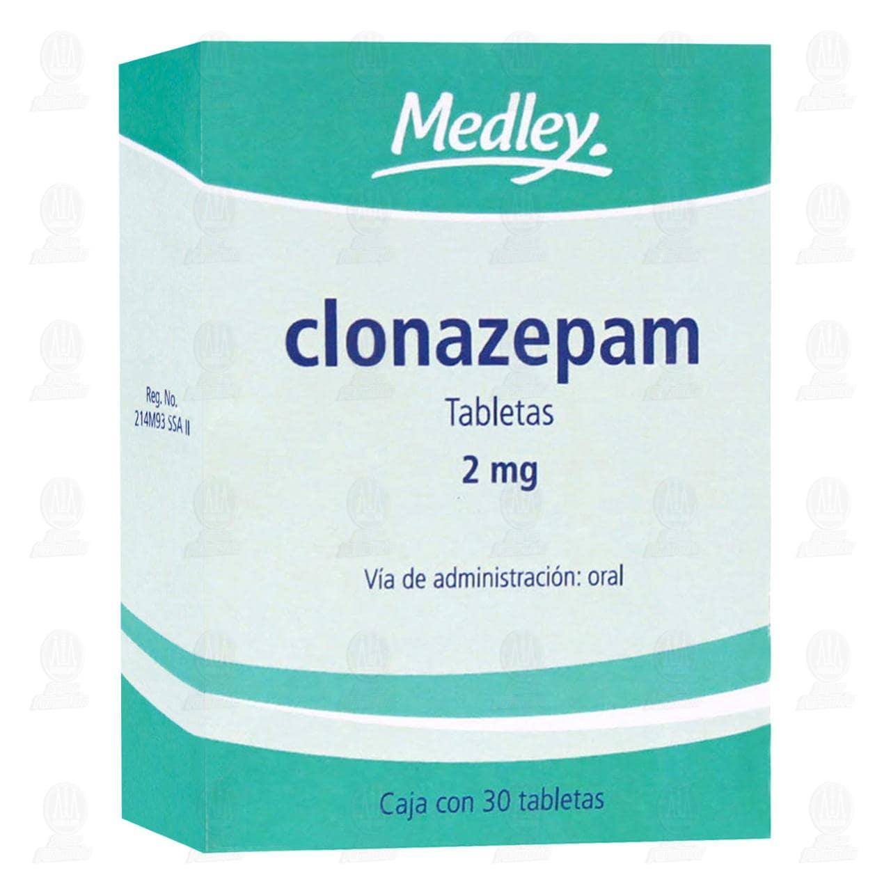 Clonazepam 2 mg 30 Tabletas