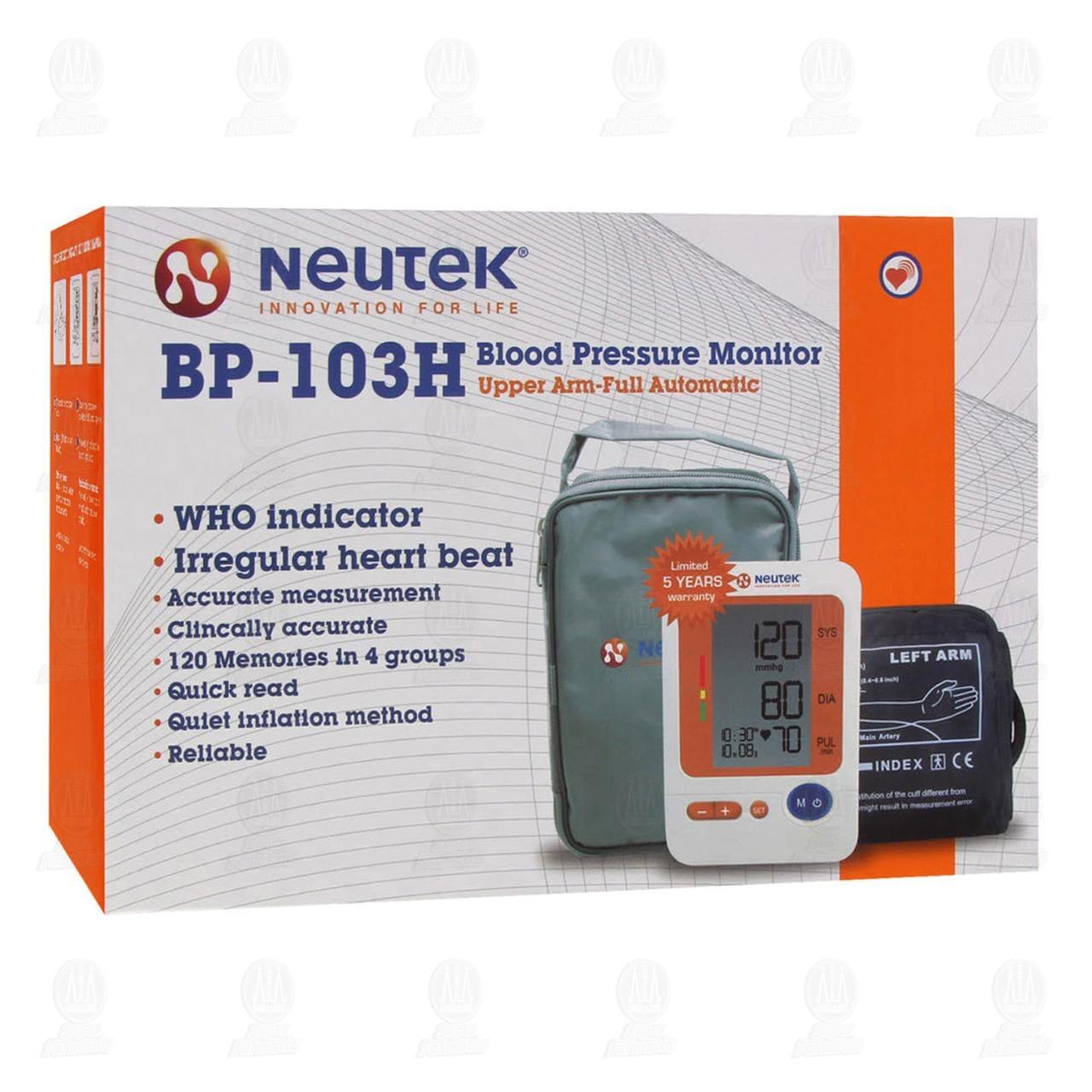 Comprar Monitor Neutek de Presión Sanguínea Brazo Digital en Farmacias Guadalajara