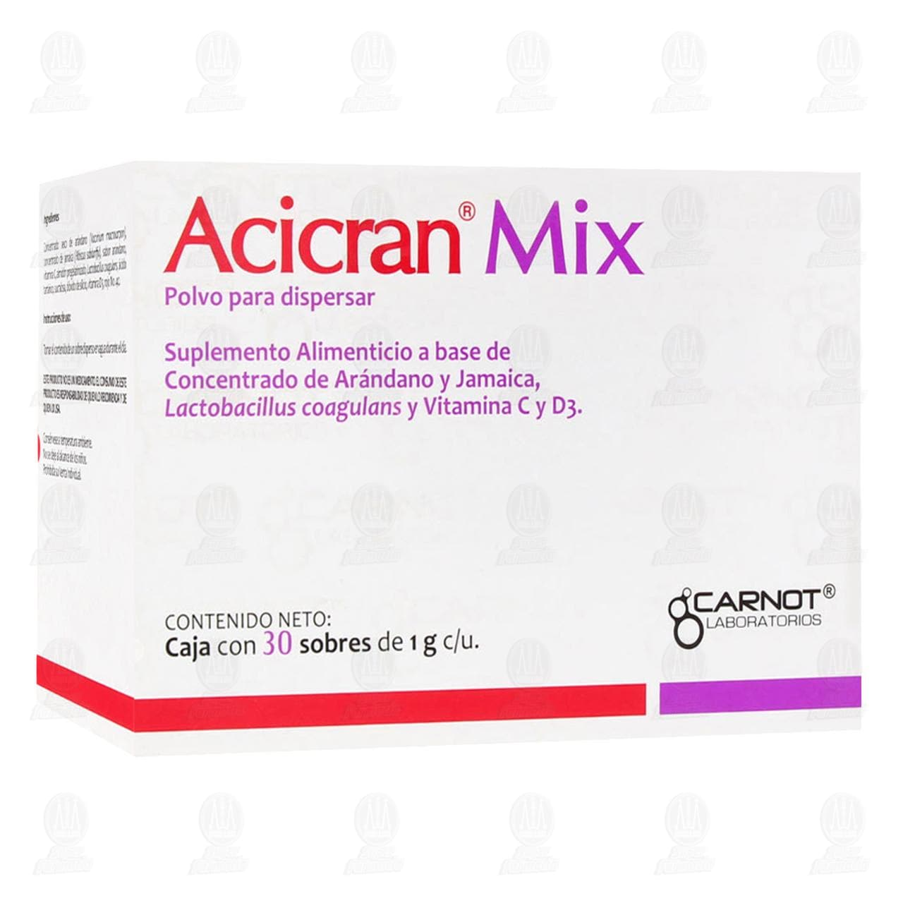 Comprar Suplemento Alimenticio Acicran Mix en Polvo, 30 Sobres de 1gr c/u. en Farmacias Guadalajara