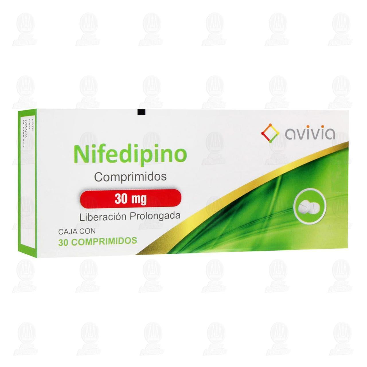 Comprar Nifedipino 30mg 30 Comprimidos Avivia Pharma en Farmacias Guadalajara
