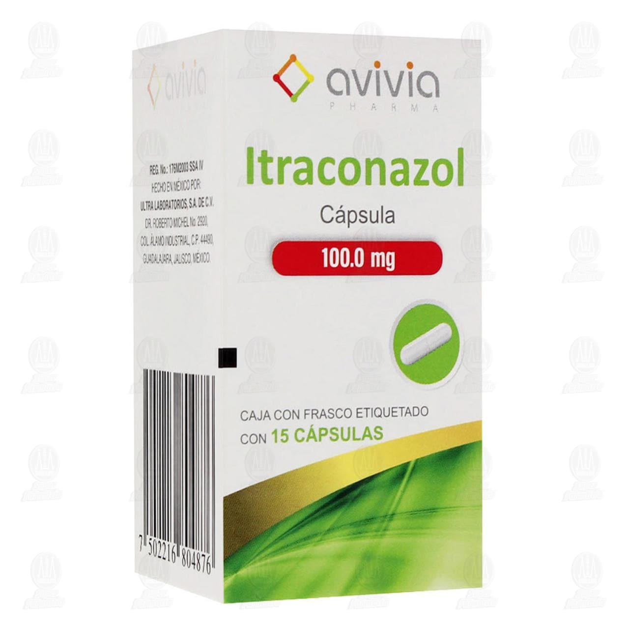 Comprar Itraconazol 100mg 15 Cápsulas Avivia Pharma en Farmacias Guadalajara