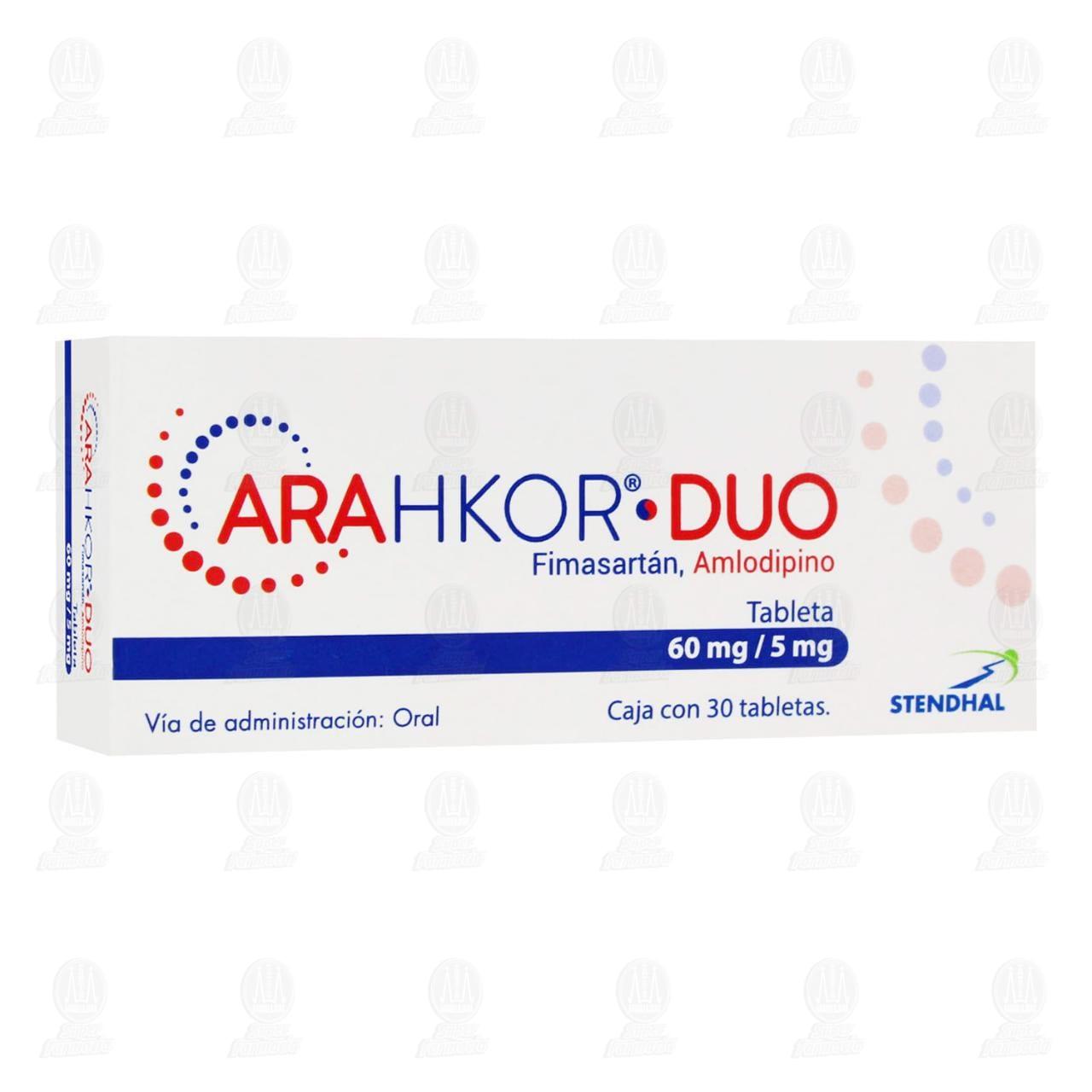 Comprar Arahkor Duo 60mg/5mg 30 Tabletas en Farmacias Guadalajara