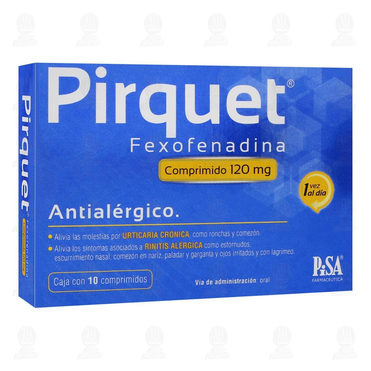 Comprar Pirquet 120mg 10 Comprimidos en Farmacias Guadalajara