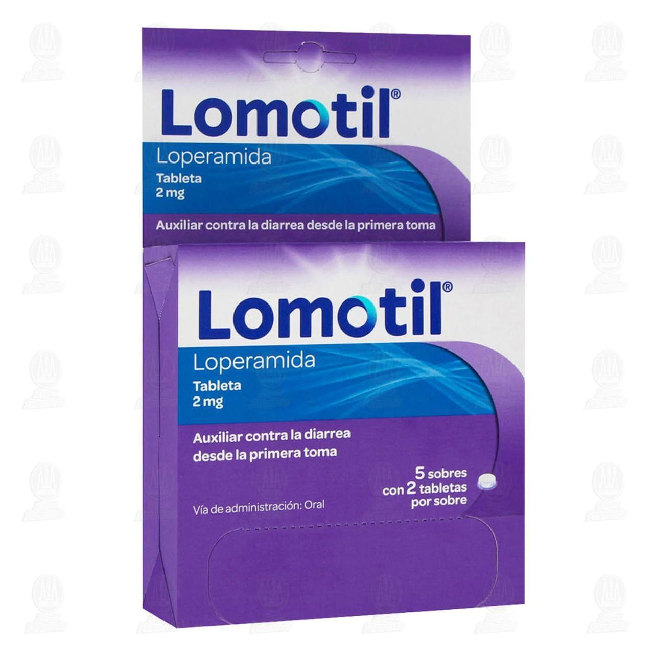 Comprar Lomotil 2mg 5 Sobres con 2 Tabletas c/u en Farmacias Guadalajara