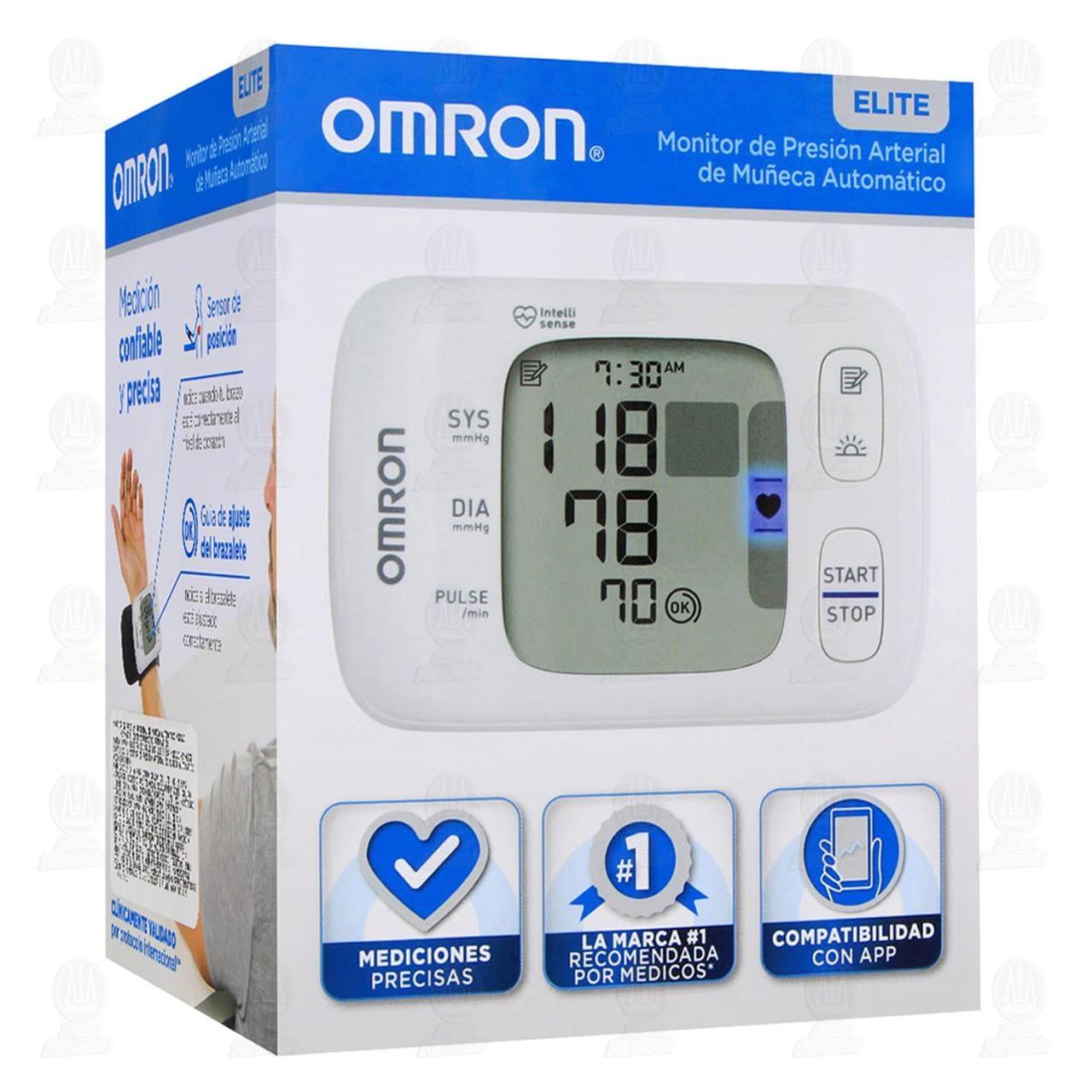 Monitor Omron de Presión Arterial de Muñeca Automático Mod HEM-6230, 1 Piezas.
