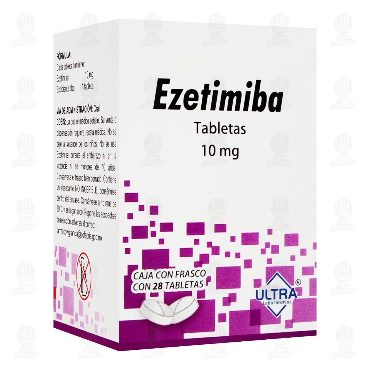 Ezetimiba 10 mg 28 Tabletas Frasco