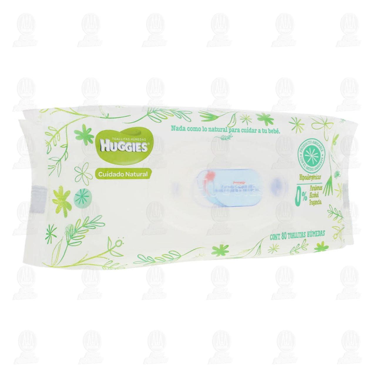 Toallitas para Bebé Huggies Cuidado Natural, 80 Pzas.