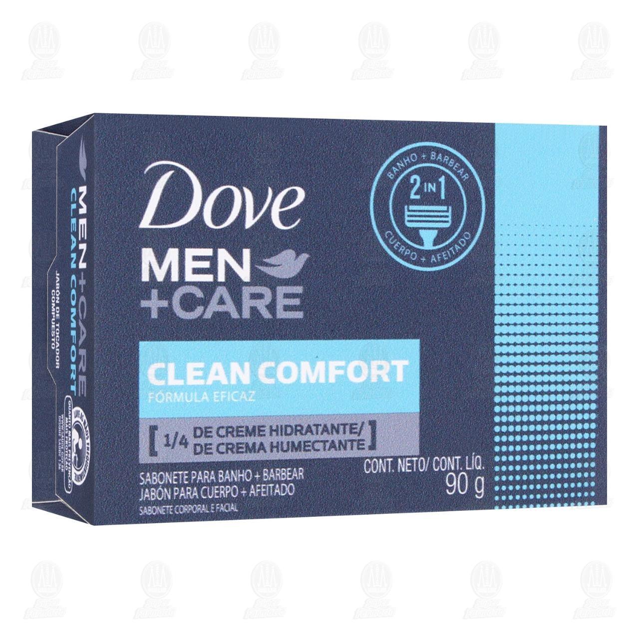Comprar Jabón de Tocador Dove Men+Care 2 en 1 Clean Comfort en Barra, 90 gr. en Farmacias Guadalajara