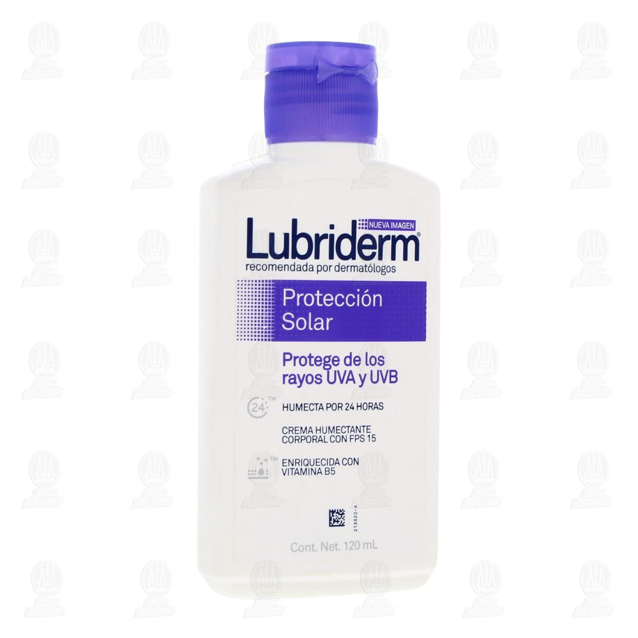 Comprar Crema Corporal Lubriderm Protección Solar FPS 15, 120 ml. en Farmacias Guadalajara