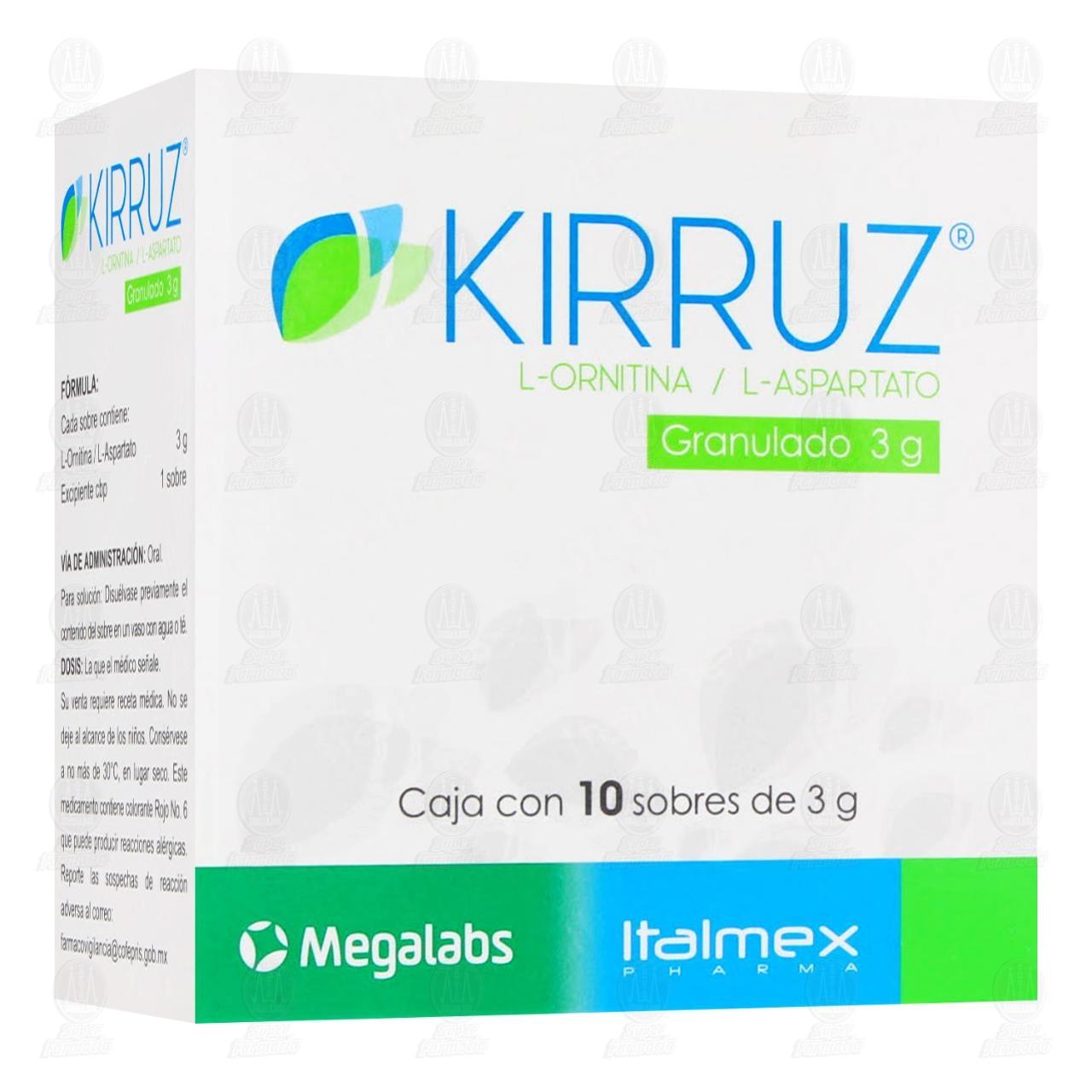 Comprar Kirruz 3gr 10 Sobres Granulados en Farmacias Guadalajara