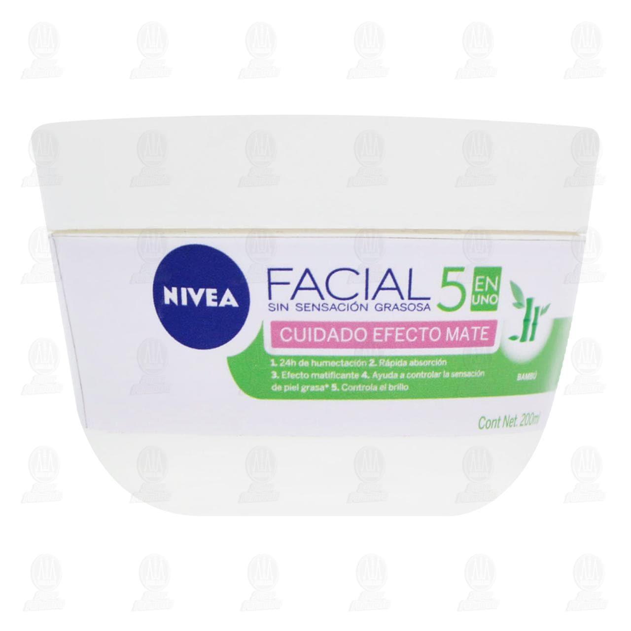 Comprar Nivea Crema Facial Hidratante Efecto Mate para Piel Grasa a Mixta, 200ml. en Farmacias Guadalajara