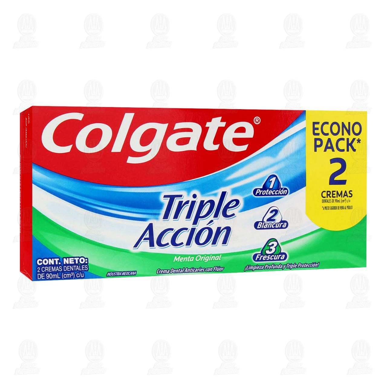 Comprar Pasta Dental Colgate Triple Acción, 90 ml 2 pzas. en Farmacias Guadalajara