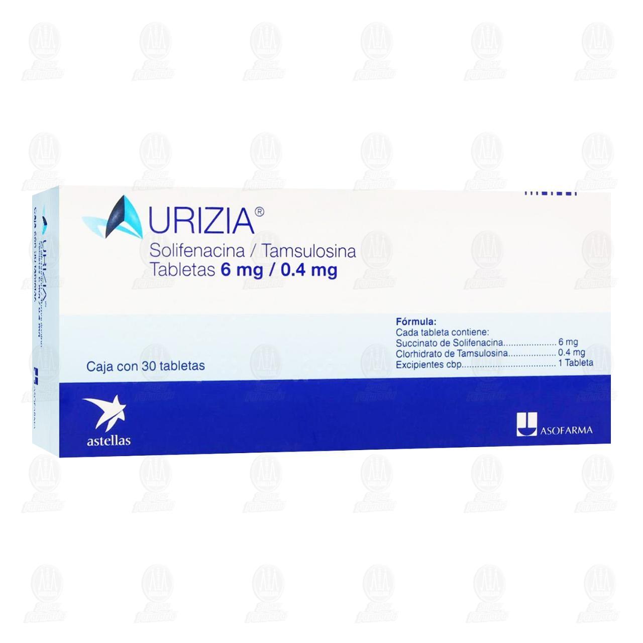 Comprar Urizia 6mg /0.4mg 30 Tabletas en Farmacias Guadalajara
