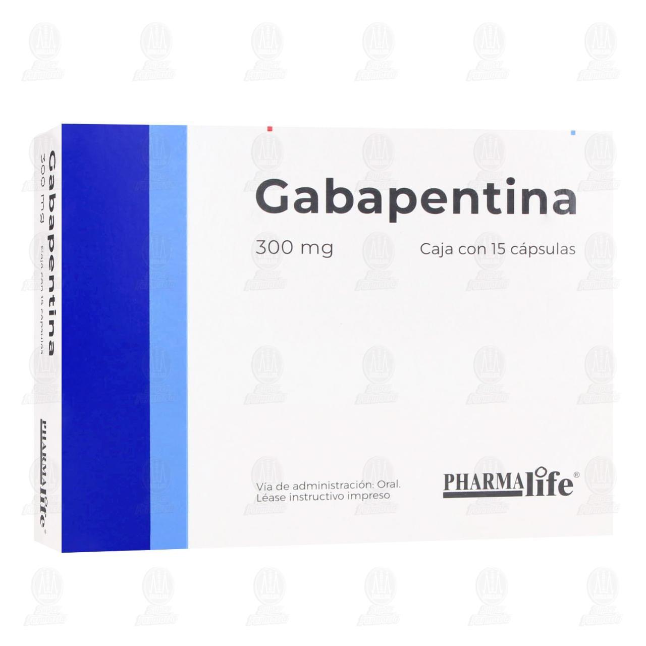 Comprar Gabapentina 300mg 15 Cápsulas Pharmalife en Farmacias Guadalajara