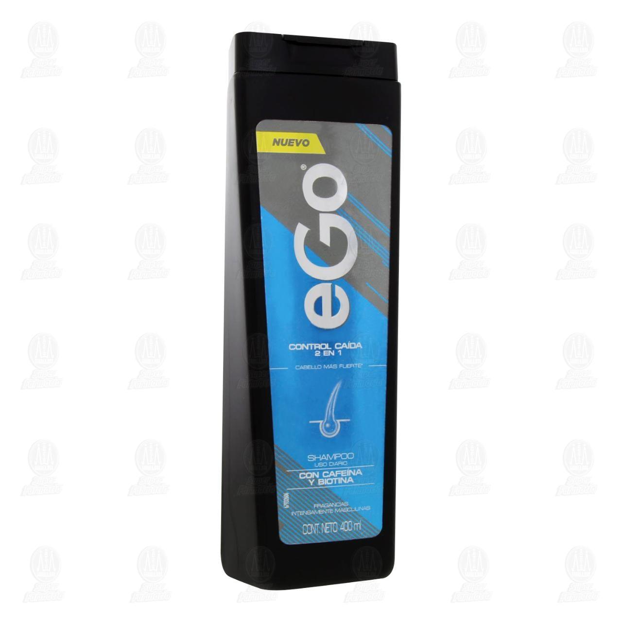 Comprar Shampoo Ego Control Caída 2 en 1, 400 ml. en Farmacias Guadalajara