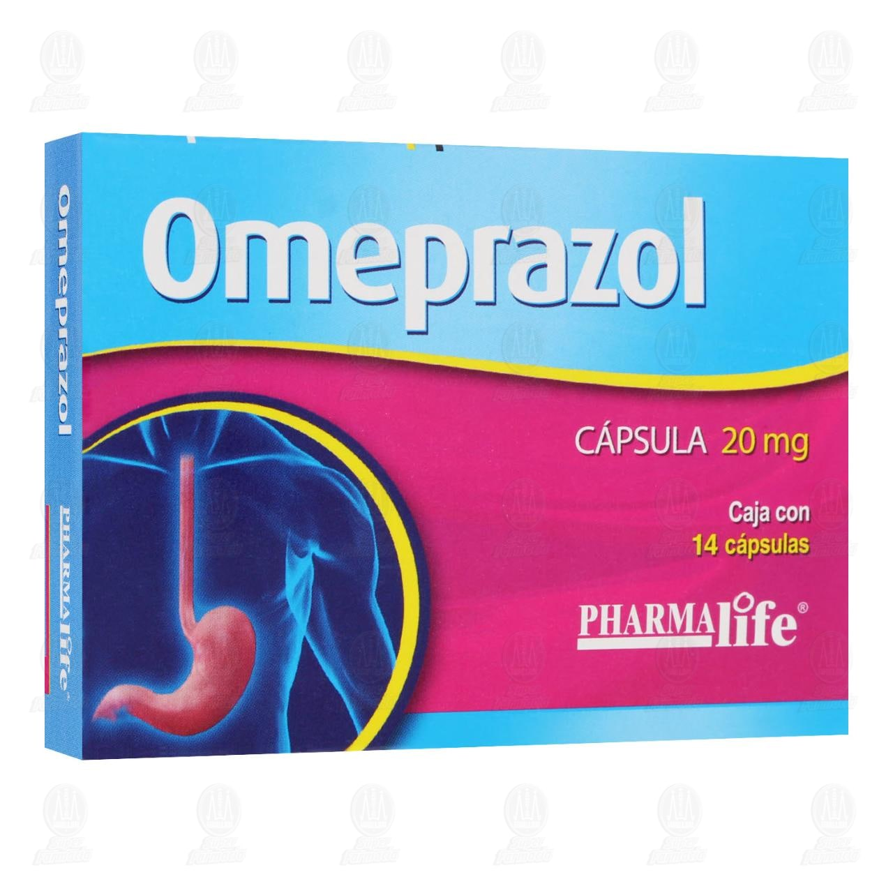 Comprar Omeprazol 20 mg 14 Cápsulas Pharmalife en Farmacias Guadalajara
