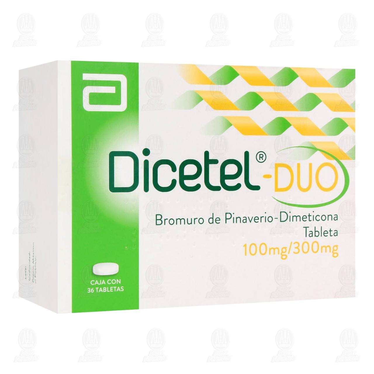 Comprar Dicetel-Duo 100mg/300mg 36 Tabletas en Farmacias Guadalajara