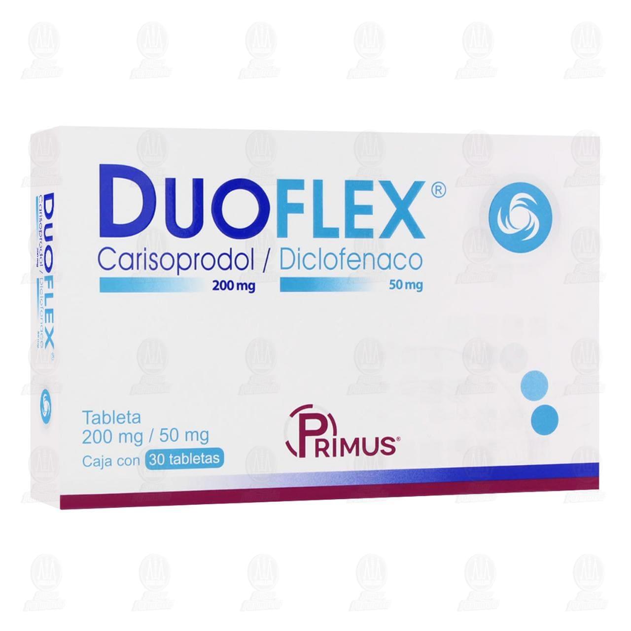 Comprar Duoflex 200mg/50mg 30 Tabletas en Farmacias Guadalajara
