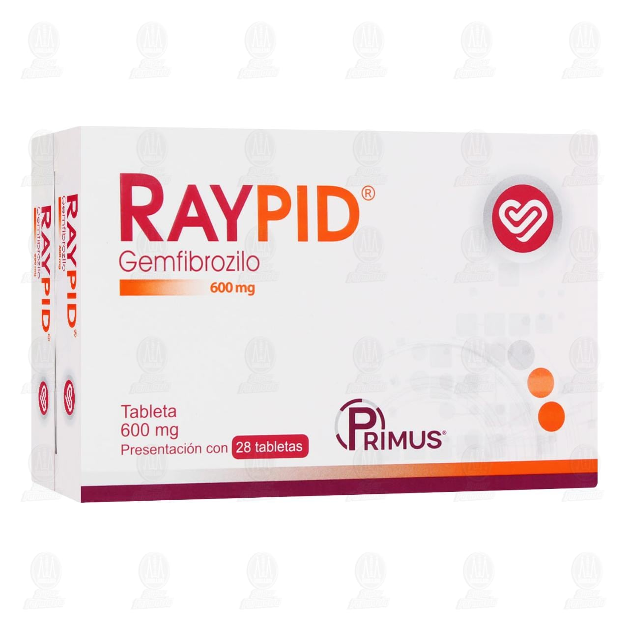 Comprar Raypid 600mg 28 Tabletas en Farmacias Guadalajara