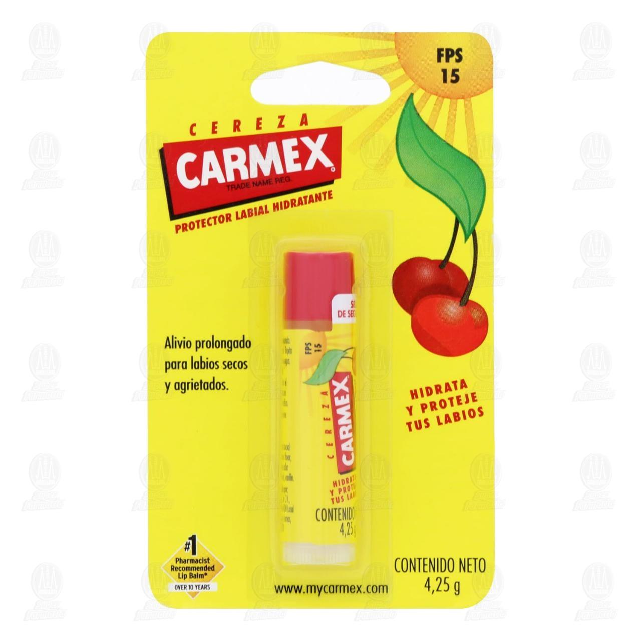 Comprar Protector Labial Carmex Hidratante Aroma Cereza FPS 15, 4.25 gr. en Farmacias Guadalajara