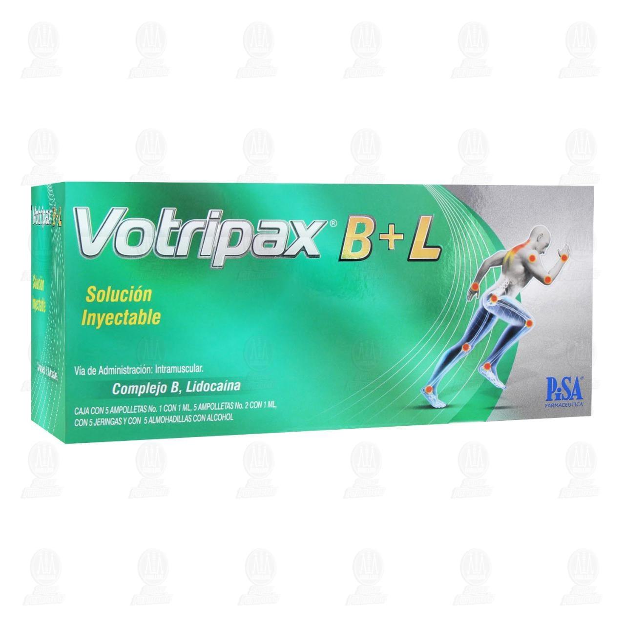 Comprar Votripax B+L Solución Inyectable 5 Ampolletas en Farmacias Guadalajara
