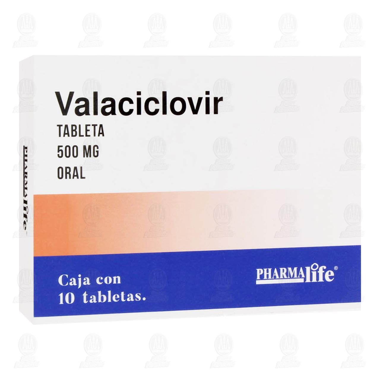 Comprar Valaciclovir 500mg 10 Tabletas Pharmalife en Farmacias Guadalajara