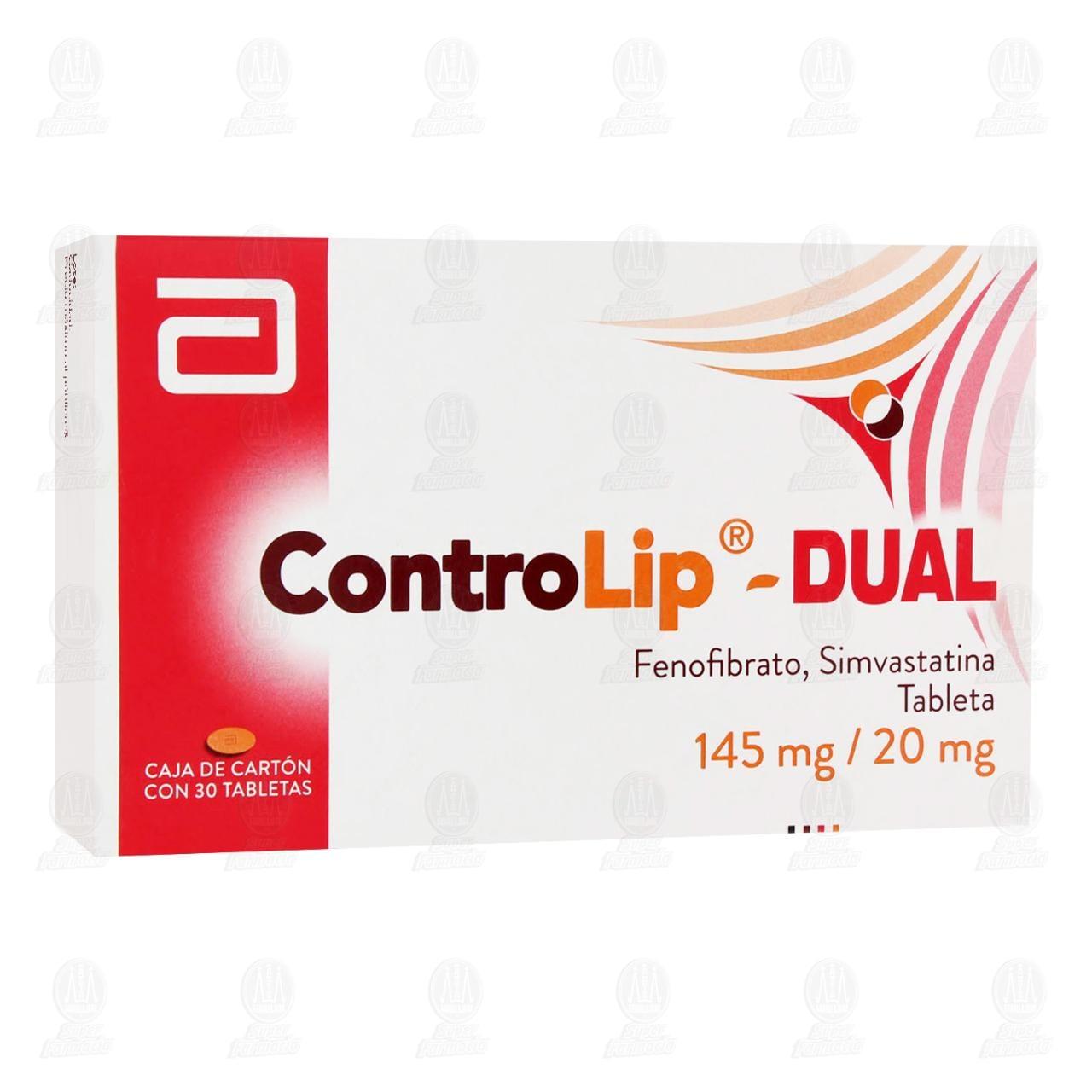 Comprar Cotrolip- Dual 145mg /20mg 30 Tabletas en Farmacias Guadalajara