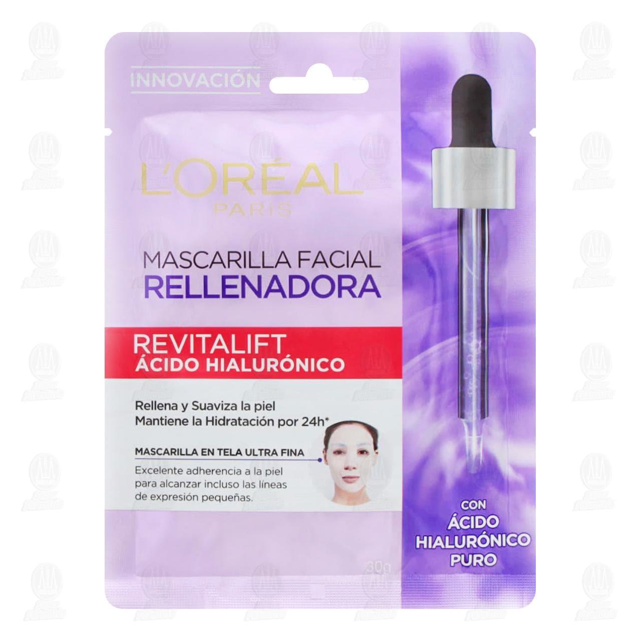 Comprar Mascarilla en Tela L'Oréal Paris Revitalift Ácido Hialurónico, 1 pz. en Farmacias Guadalajara