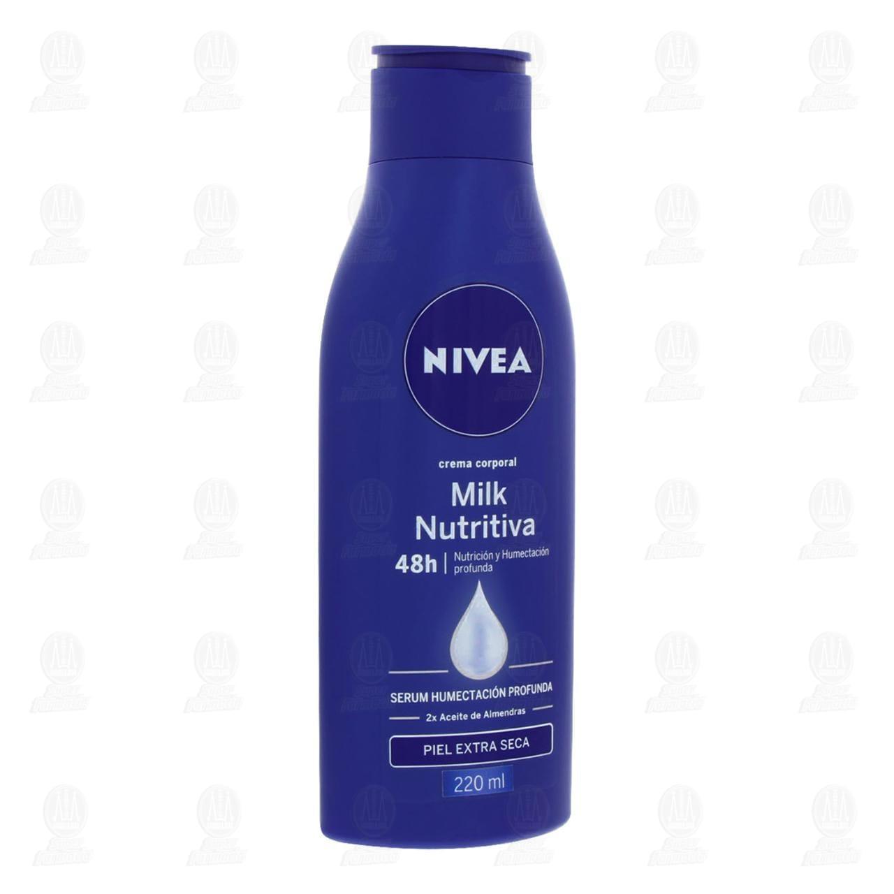 Comprar Nivea Crema Corporal Hidratante Nutritiva Piel Extra Seca, 220ml. en Farmacias Guadalajara
