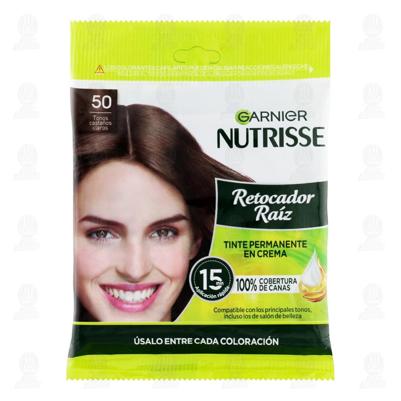 Comprar Retocador de Raíz Garnier Nutrisse en Crema Tonos Castaños Claros (50), 2 pzas. en Farmacias Guadalajara