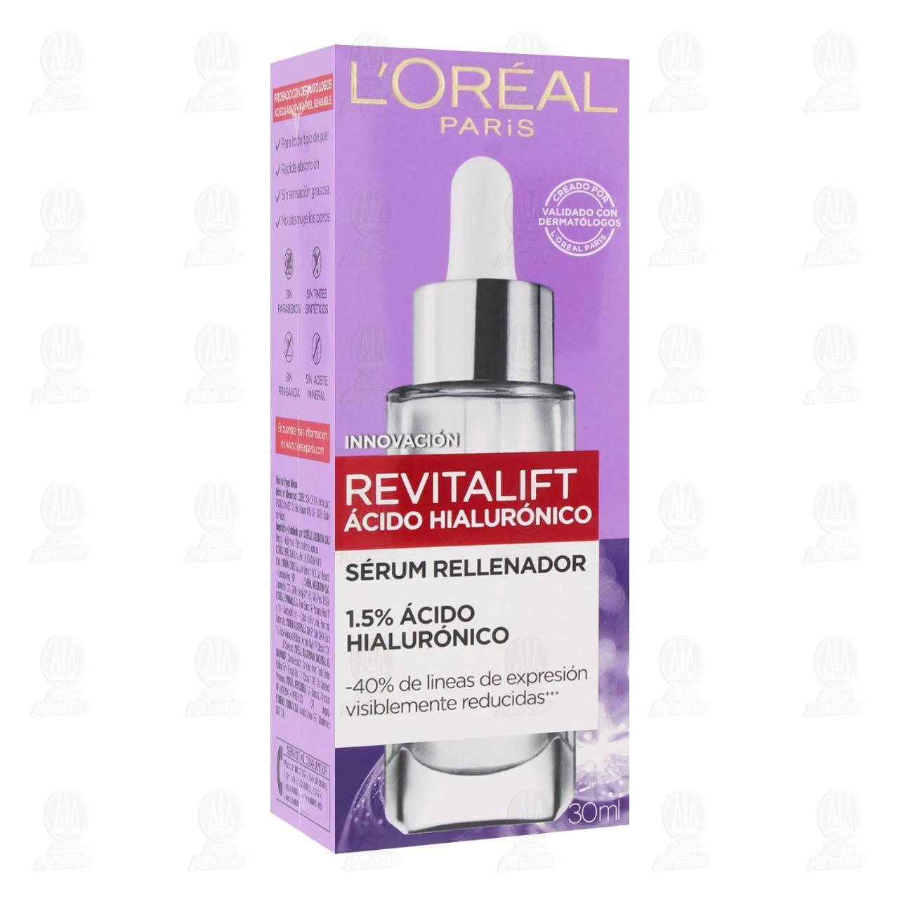 Comprar Sérum Rellenador L'Oréal Revitalift Ácido Hialurónico, 30 ml. en Farmacias Guadalajara