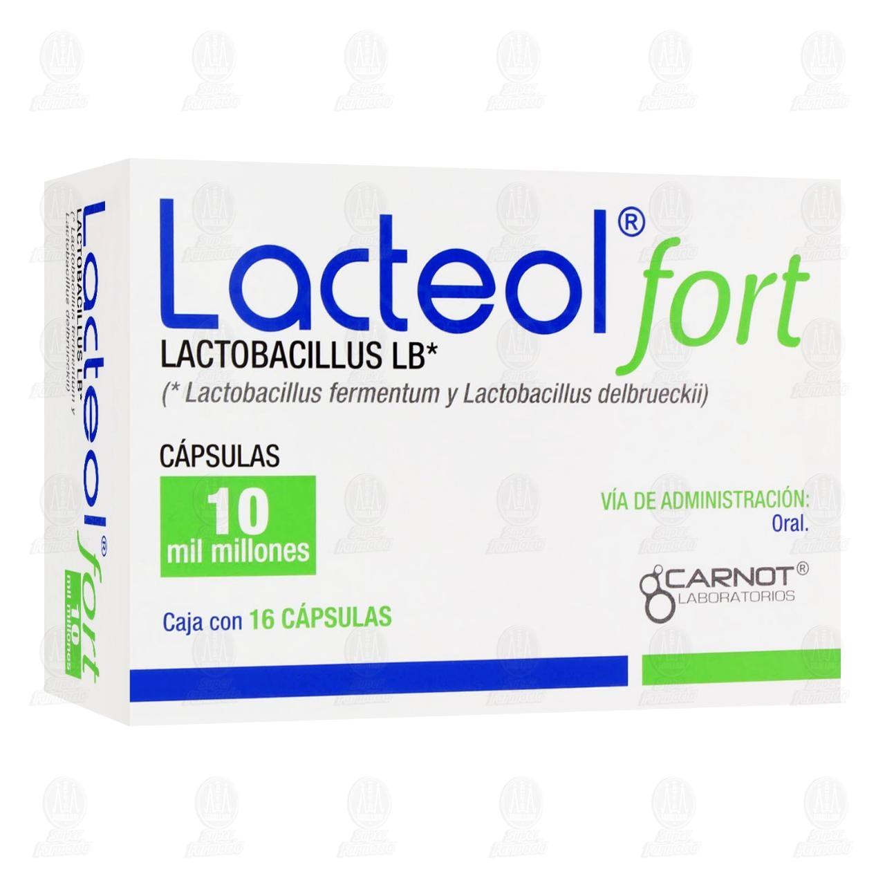 Comprar Lacteol Fort 10 Mil Millones 16 Cápsulas en Farmacias Guadalajara