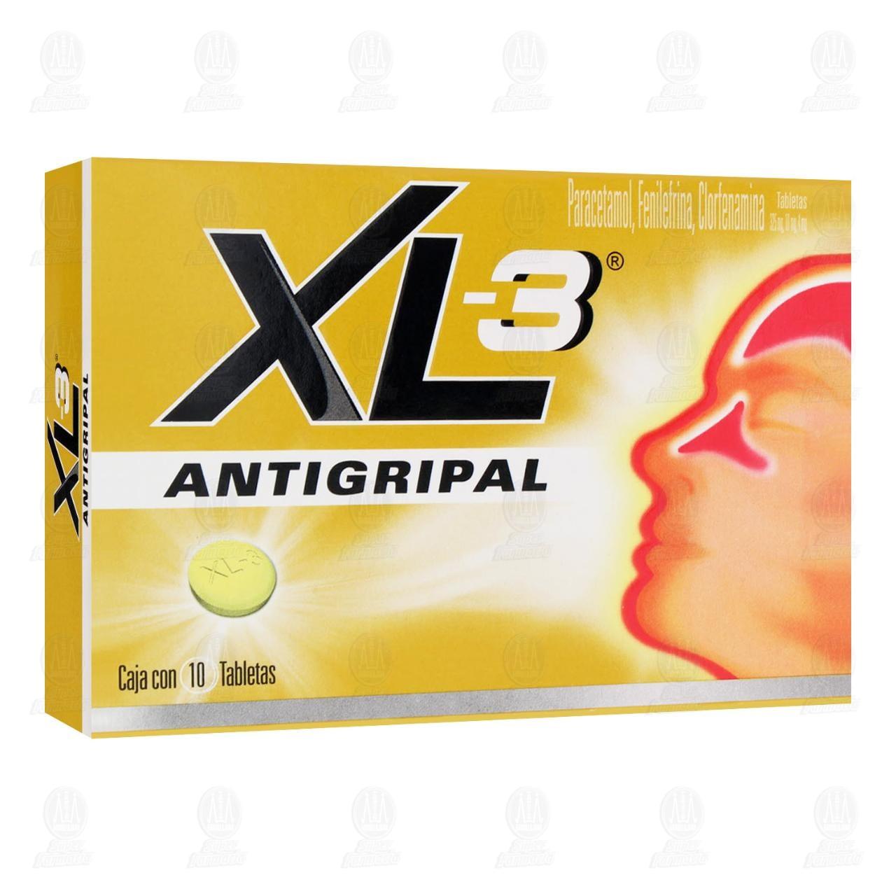 Comprar XL-3 Antigripal 325mg/10mg/4mg 10 Tabletas en Farmacias Guadalajara