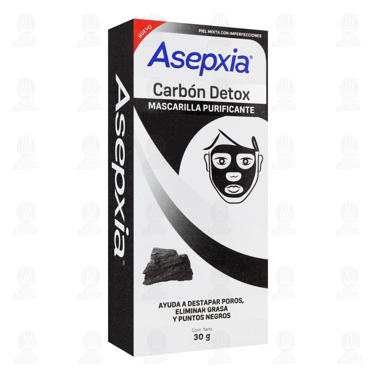 Comprar Mascarilla Peel Off Asepxia Carbón Detox Purificante, 30 gr. en Farmacias Guadalajara