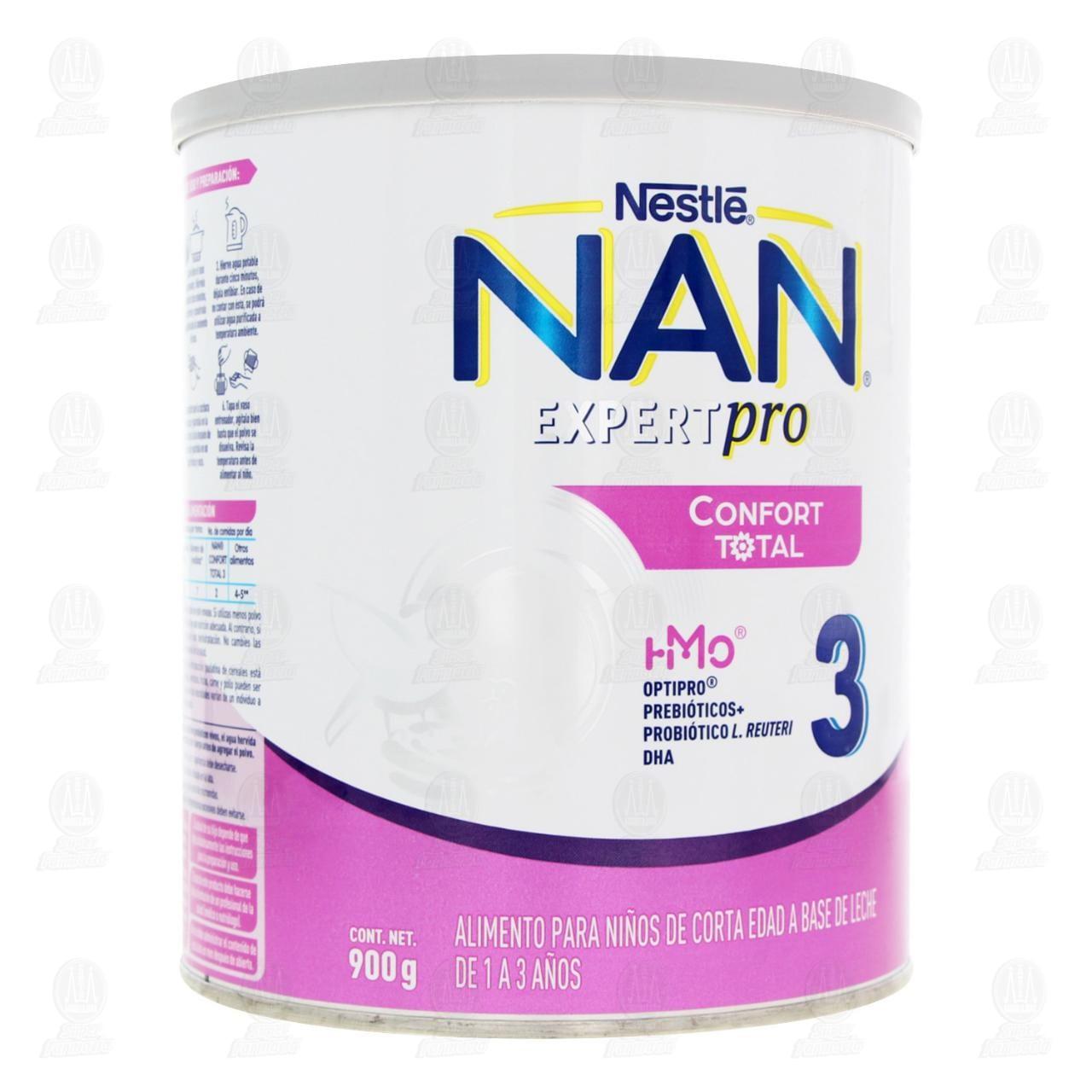 Comprar Alimento para Niños NAN 3 Expert Pro Confort Total (Edad 1 a 3 Años), 900 gr. en Farmacias Guadalajara